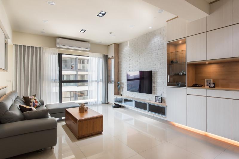 室內設計客廳設計北歐風格電視櫃收納牆