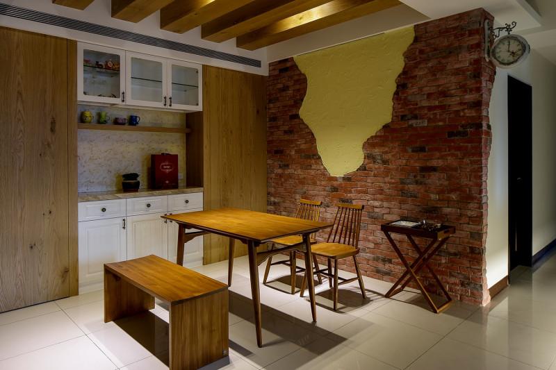 免費裝潢設計餐廳設計北歐風格實木餐桌實木餐椅天花板設計
