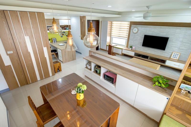 室內設計餐廳風格實木餐桌電視櫃定製收納書房